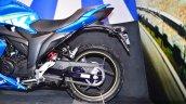 Suzuki Gixxer SF-Fi with rear disc brake rear wheel profile at Auto Expo 2016