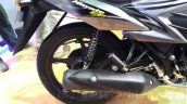 Suzuki Hayate EP rear shock at the Auto Expo 2016