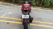 TVS Apache RTR 200 4V red rear review