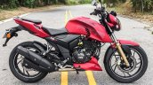TVS Apache RTR 200 4V red side review