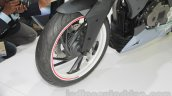 TVS X21 Concept Racer fork cover at AUto Expo 2016