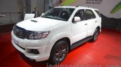 Toyota Fortuner TRD Sportivo Platinum front three quarter at the Auto Expo 2016