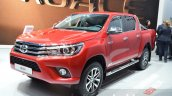 Toyota Hilux front three quarters at the 2016 Geneva Motor Show