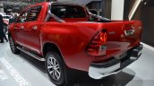 Toyota Hilux rear three quarters view at the 2016 Geneva Motor Show