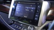 Toyota Innova Crysta 2.8 Z infotainment display at the Auto Expo 2016