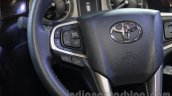 Toyota Innova Crysta 2.8 Z steering buttons at the Auto Expo 2016