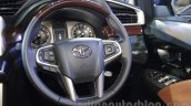Toyota Innova Crysta 2.8 Z steering wheel at the Auto Expo 2016