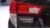 Toyota Innova Crysta 2.8 Z taillamp at the Auto Expo 2016