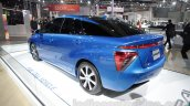 Toyota Mirai rear three quarter left at Auto Expo 2016
