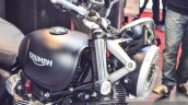 Triumph Bonneville Street Twin Matt Black headlamp at Auto Expo 2016