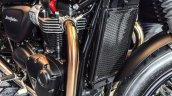 Triumph Bonneville Street Twin Matt Black radiator at Auto Expo 2016
