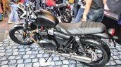 Triumph Bonneville Street Twin Matt Black rear quarter at Auto Expo 2016