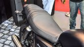 Triumph Bonneville Street Twin Matt Black seat at Auto Expo 2016