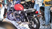 Triumph Bonneville Street Twin Red rear quarter at Auto Expo 2016