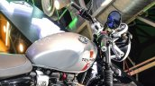 Triumph Bonneville Street Twin Silver fuel tank at Auto Expo 2016