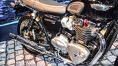 Triumph Bonneville T120 Black parallel-twin engine at Auto Expo 2016