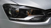 VW Ameo headlamp detail at Auto Expo 2016