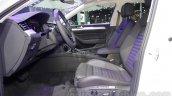 VW Passat GTE front seats at 2016 Auto Expo