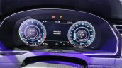 VW Passat GTE instrument cluster at 2016 Auto Expo