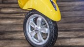 Vespa VXL 150 yellow alloy wheel at Auto Expo 2016