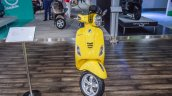 Vespa VXL 150 yellow front at Auto Expo 2016
