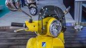 Vespa VXL 150 yellow impact resistant visor at Auto Expo 2016
