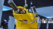 Vespa VXL 150 yellow visor mount at Auto Expo 2016