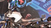 Yamaha MT-09 blue and silver at Auto Expo 2016