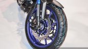 Yamaha MT-09 front tyre at Auto Expo 2016