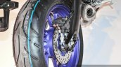 Yamaha MT-09 rear tyre at Auto Expo 2016