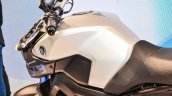 Yamaha MT-09 silver fuel tank at Auto Expo 2016