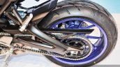 Yamaha MT-09 swingarm at Auto Expo 2016