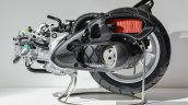 Yamaha NMax engine cut section at Auto Expo 2016