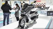 Yamaha NMax grey front quarter at Auto Expo 2016