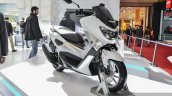 Yamaha NMax white front quarter at Auto Expo 2016