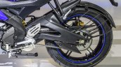 Yamaha R15 V2 Revving Blue swingarm at Auto Expo 2016