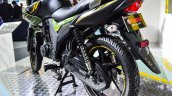 Yamaha SZ-RR V2.0 Matt Green alloy wheel at Auto Expo 2016