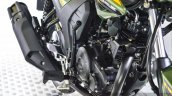 Yamaha SZ-RR V2.0 Matt Green engine at Auto Expo 2016