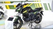 Yamaha SZ-RR V2.0 Matt Green front quarter at Auto Expo 2016