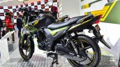 Yamaha SZ-RR V2.0 Matt Green rear quarter at Auto Expo 2016