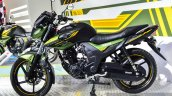 Yamaha SZ-RR V2.0 Matt Green side at Auto Expo 2016