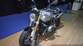 2016 BMW R nineT brushed aluminium tank Ohlins inverted fork at 2016 BIMS