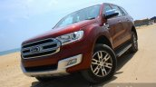 2016 Ford Endeavour 2.2 AT Titanium front quarter angled Review