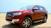 2016 Ford Endeavour 2.2 AT Titanium front three quarter toe in Review