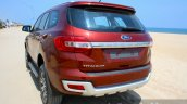2016 Ford Endeavour 2.2 AT Titanium rear quarter close Review
