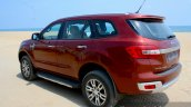 2016 Ford Endeavour 2.2 AT Titanium rear three quarter Review