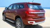 2016 Ford Endeavour 2.2 AT Titanium rear three quarter close Review