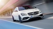 2016 Mercedes AMG CLA 45 facelift front quarter unveiled