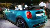 2016 Mini Convertible rear three quarter India launched