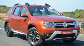 2016 Renault Duster facelift AMT front three quarters Review
